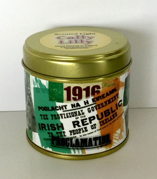 1916 Irish Republic Proclamation Candle In A Tin