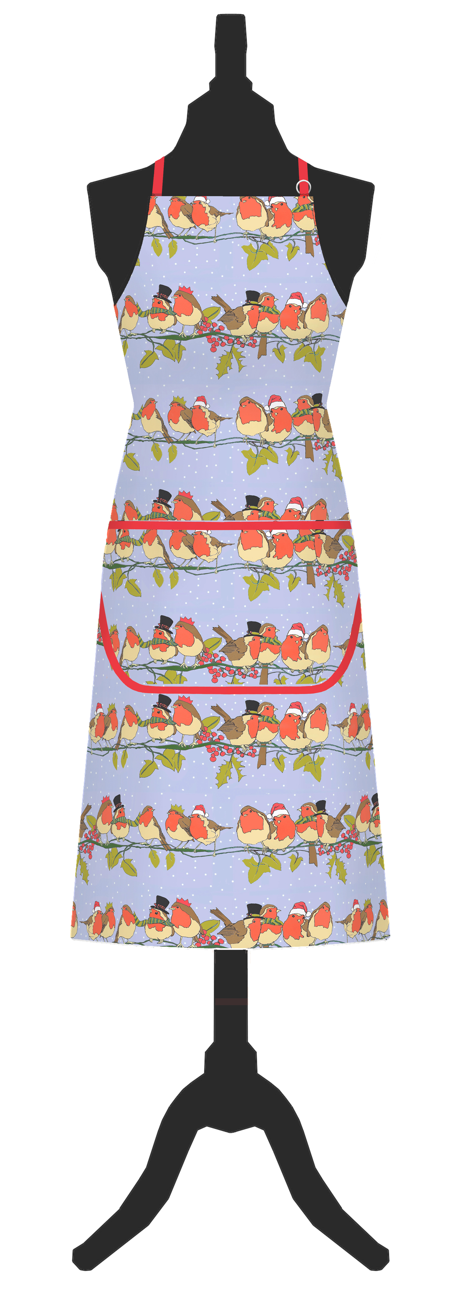 Christmas Robins Cotton Apron