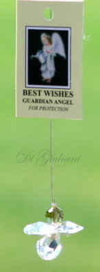 Best Wishes Crystal Hanging Angel
