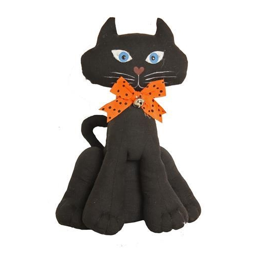 Black Cat Sitting Figure