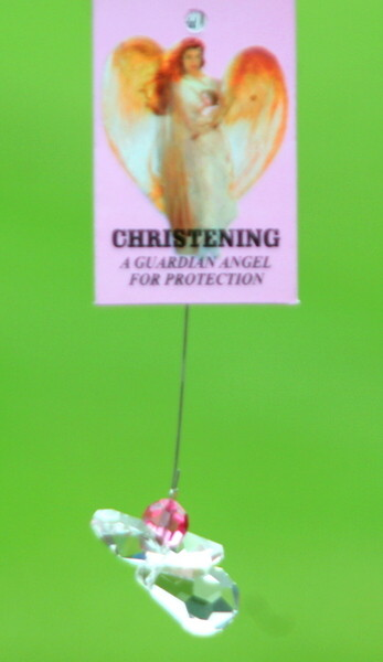 Christening Girl Crystal Hanging Angel