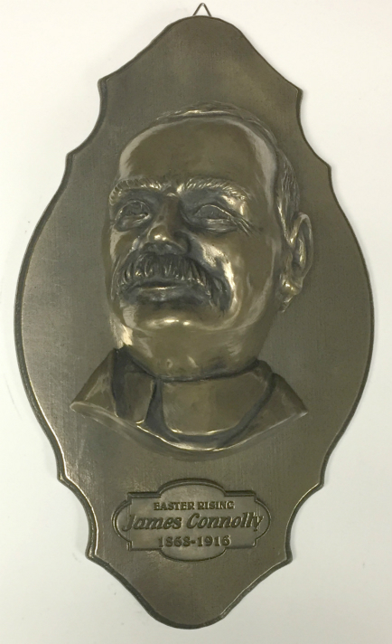 James Connolly Bronze Wall Plaque 24cm