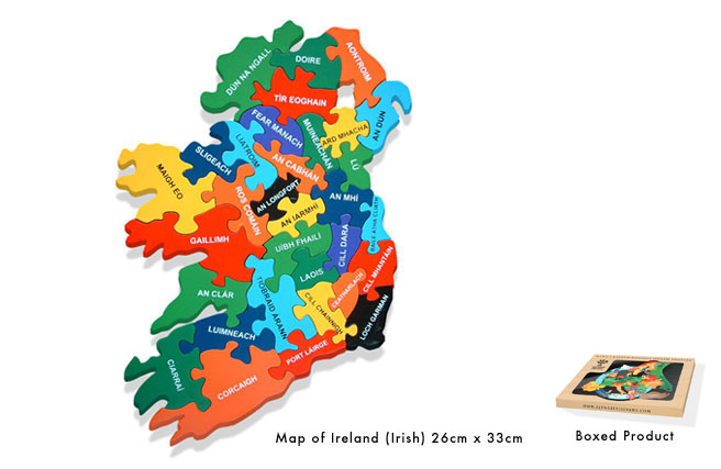 Map of Eire Jigsaw - Irish Language