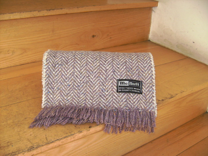 McNutt Heather & Cloud Herringbone Scarf