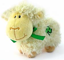 Huggable Shaggy Cream Sheep