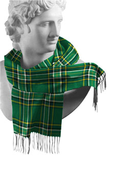 Irish National Tartan Lambswool Scarf