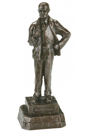 James Joyce Bronze Statue 23cm