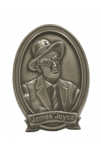 James Joyce Bronze Wall Plaque 15cm