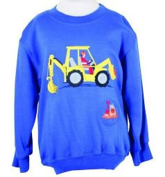 Digger Embroidered Sweatshirt with Sound Effect
