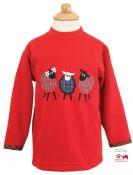 Sheep Trio Embroidered Sweatshirt