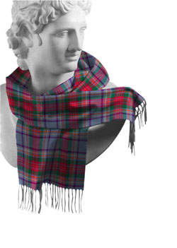 Louth County Tartan Lambswool Scarf