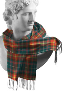 Meath County Tartan Lambswool Scarf