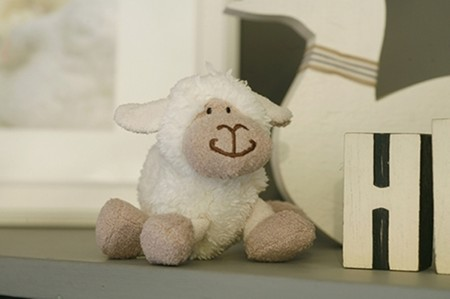 Mini White Sheep Soft Toy