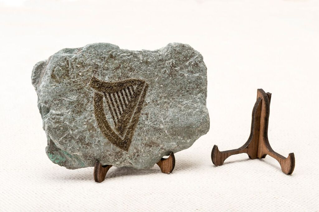 Engraved Irish Stone Keepsake - Harp
