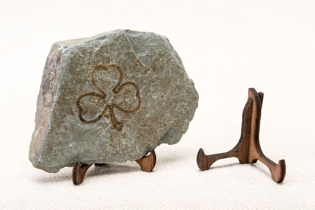 Engraved Irish Stone Keepsake - Shamrock