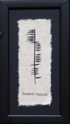 Irish Made Single Ogham - Blessing