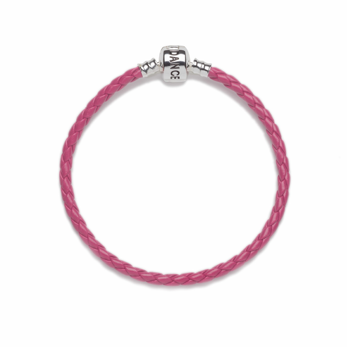 Official Riverdance20 Pink Leather Style Charm Bracelet