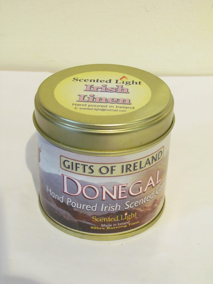 Irish Linen Scented Candle In A Tin