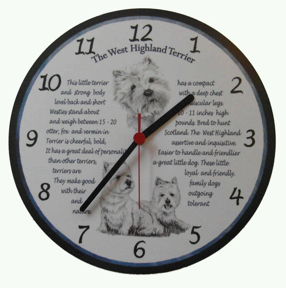 The West Highland Terrier Wall Clock