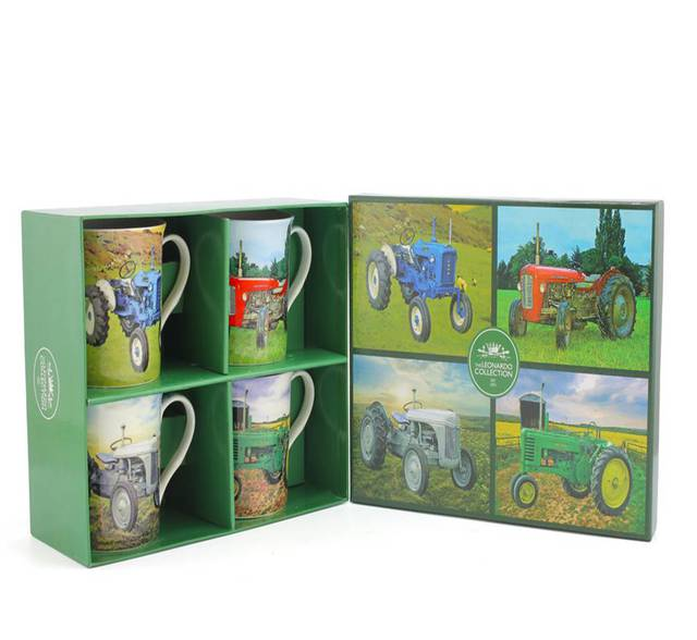 Farm Tractor Mugs - Set of 4