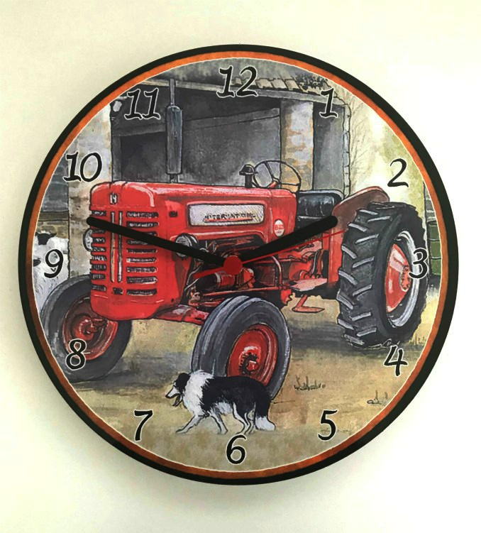 McCormick International Tractor Battery Wall Clock