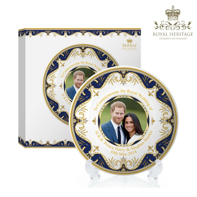 Prince Harry and Meghan Markle China Medium Plate