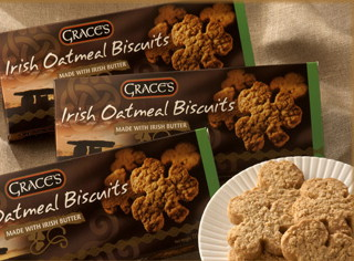 Graces Irish Shamrock Shaped Oatmeal Biscuits 135g