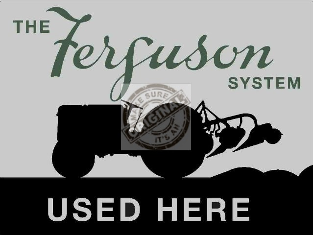 Ferguson Enamelled Mono Color Metal Sign